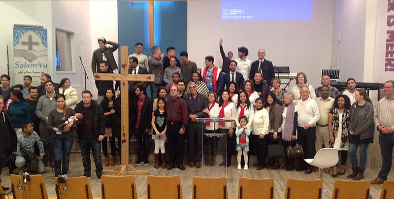 groepsfoto in de kerk